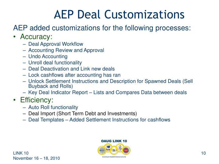 AEP Deal Customizations