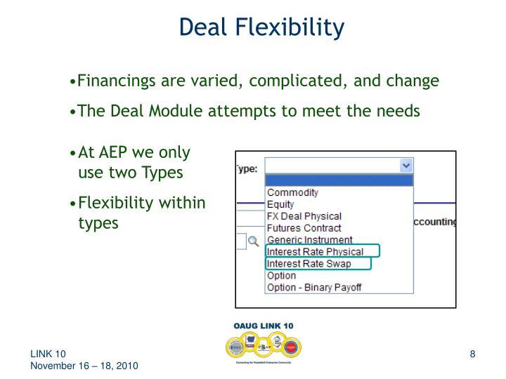 Deal Flexibility