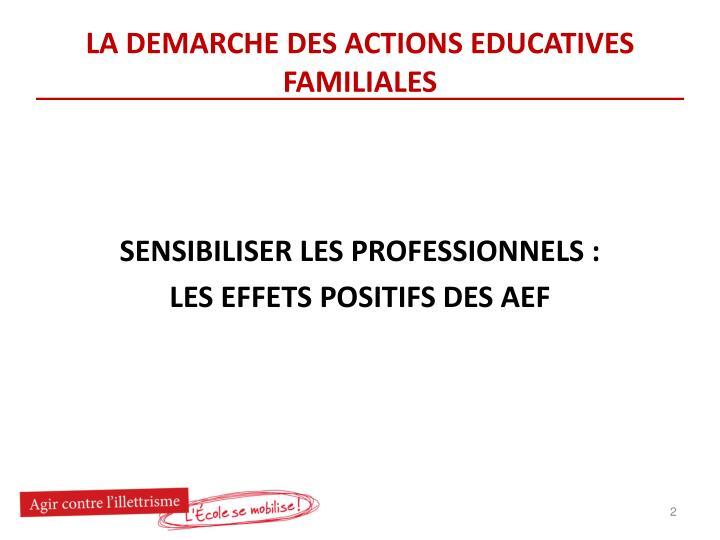 La demarche des actions educatives familiales