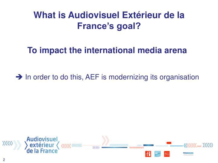 What is Audiovisuel Extérieur de la