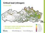 critical load nitrogen