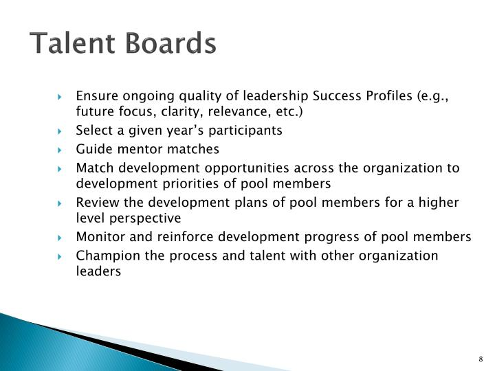 Talent Boards