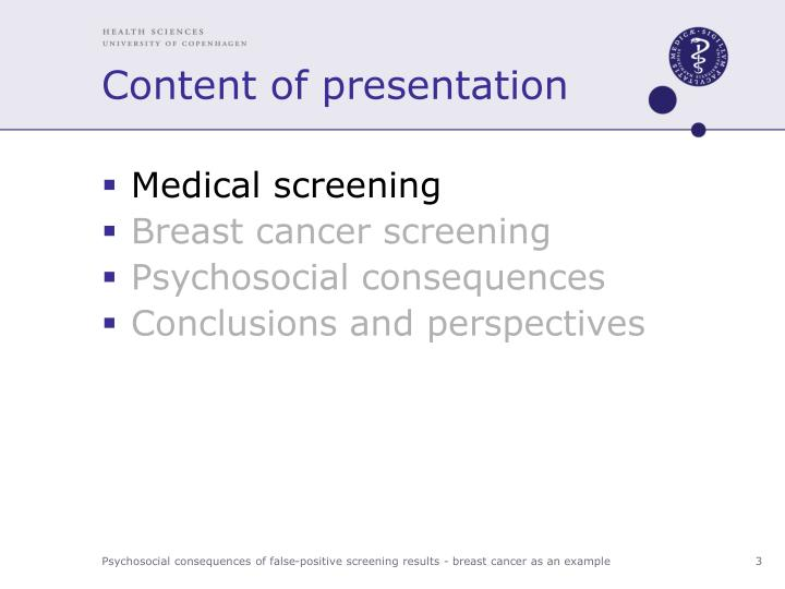 Content of presentation1