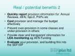 real potential benefits 2