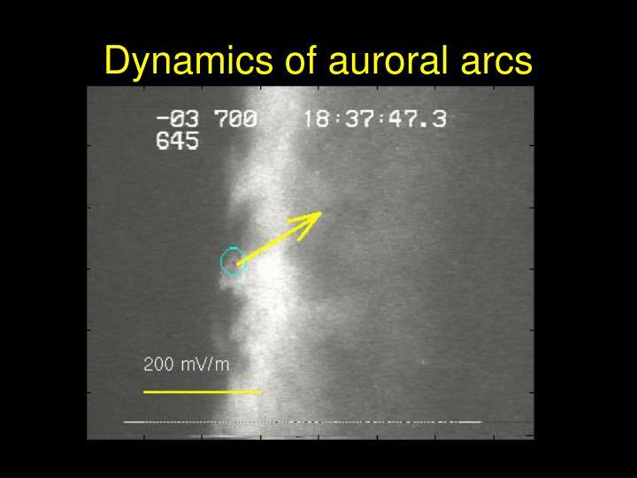 Dynamics of auroral arcs