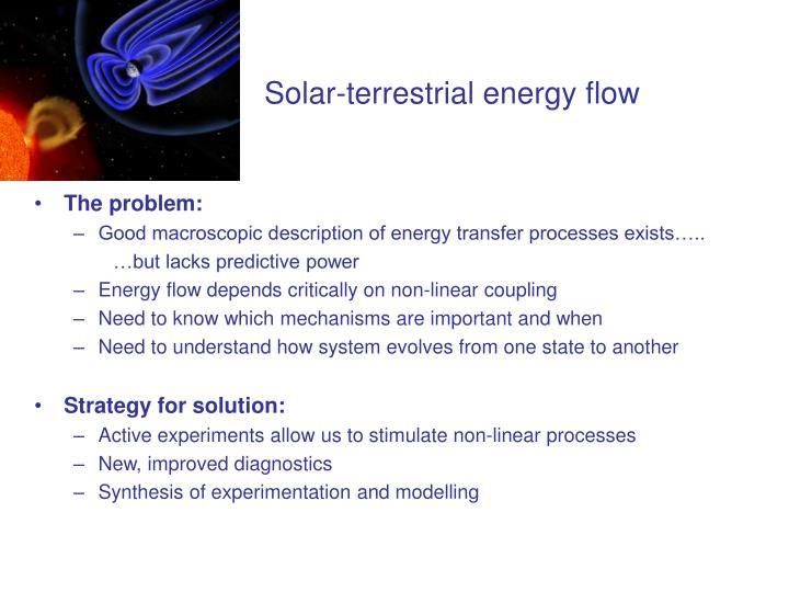 Solar-terrestrial energy flow