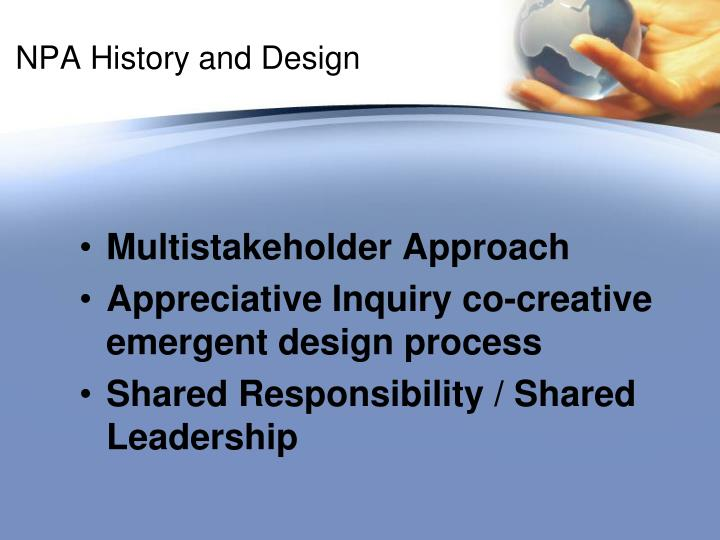 NPA History and Design