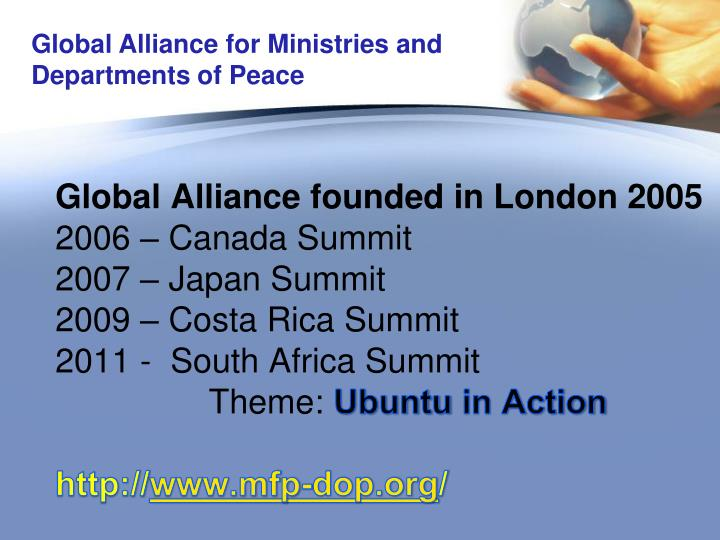 Global Alliance founded in London 2005