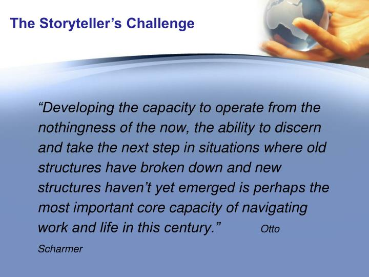 The Storyteller's Challenge