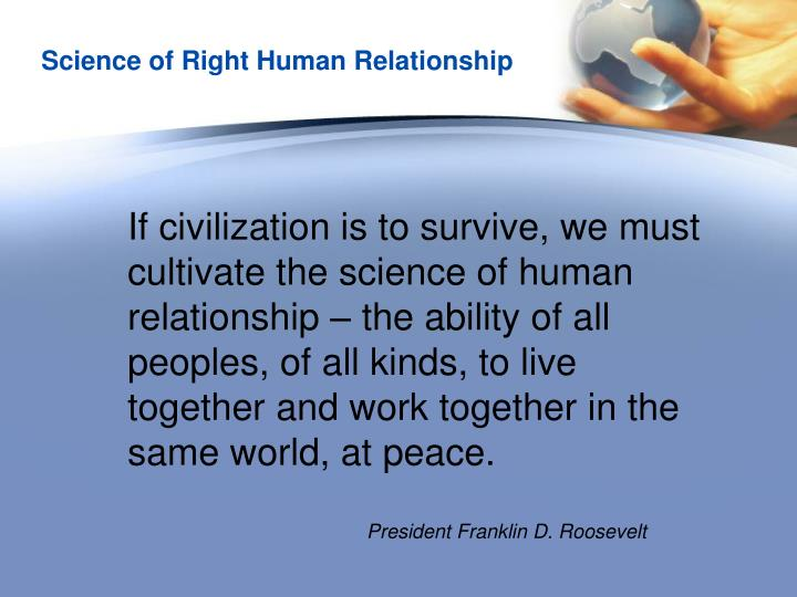 Science of Right Human Relationship