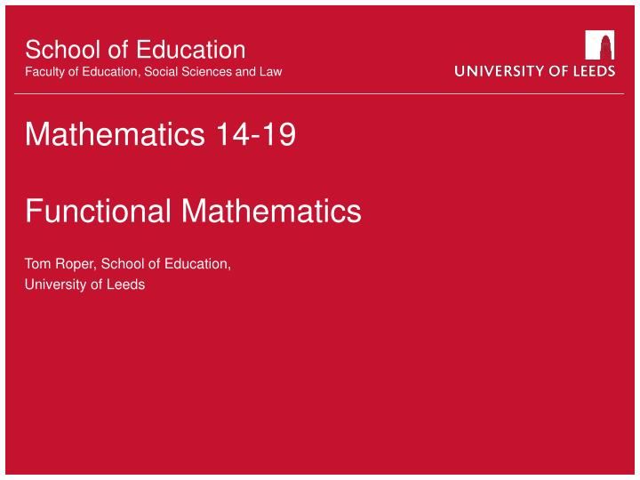 mathematics 14 19 functional mathematics n.