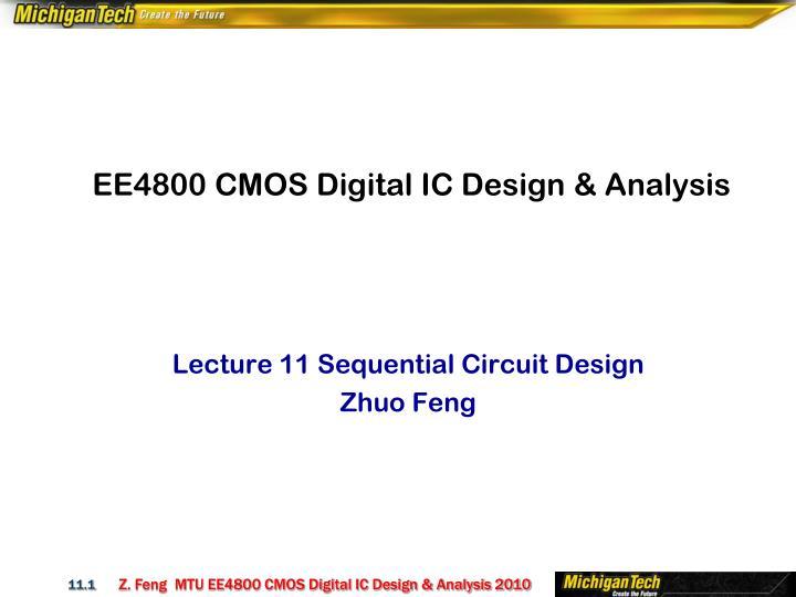 Ee4800 cmos digital ic design analysis