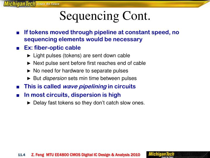 Sequencing Cont.