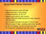 government sector outcome source aeu bulletin