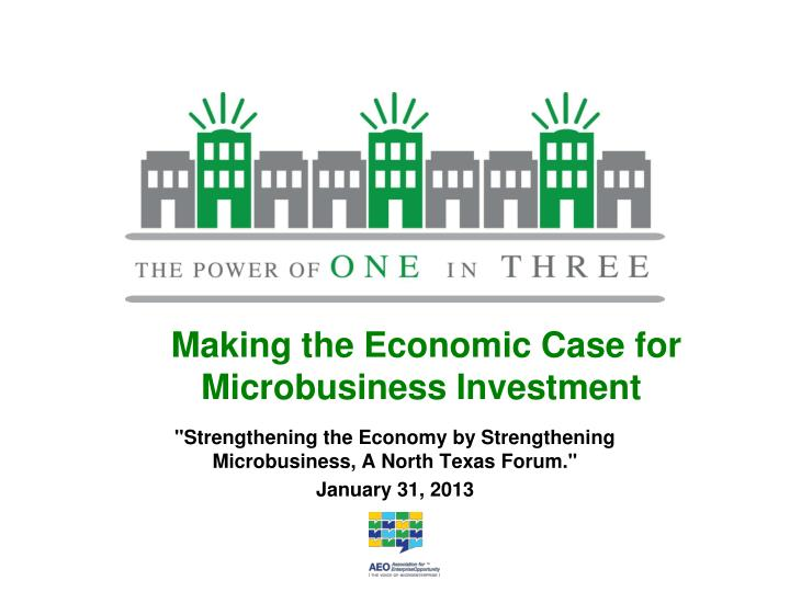 Making the economic case for microbusiness investment