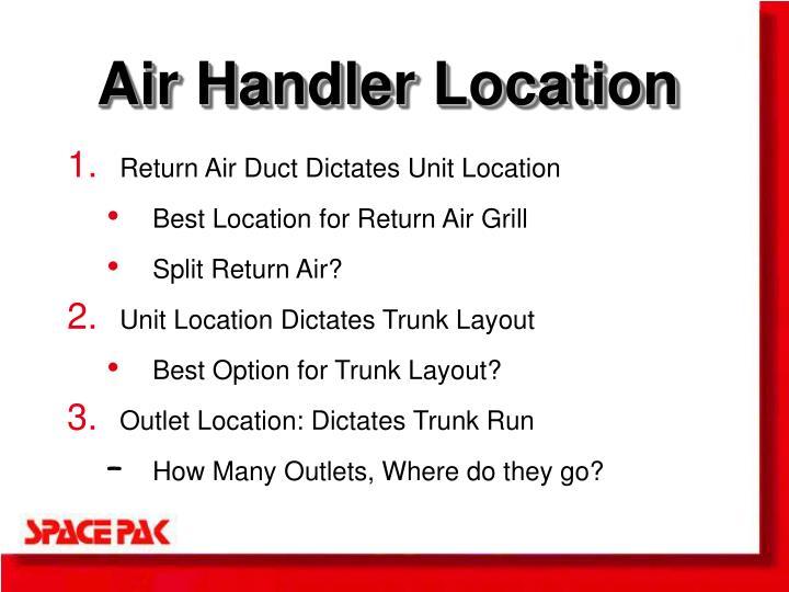 Air Handler Location