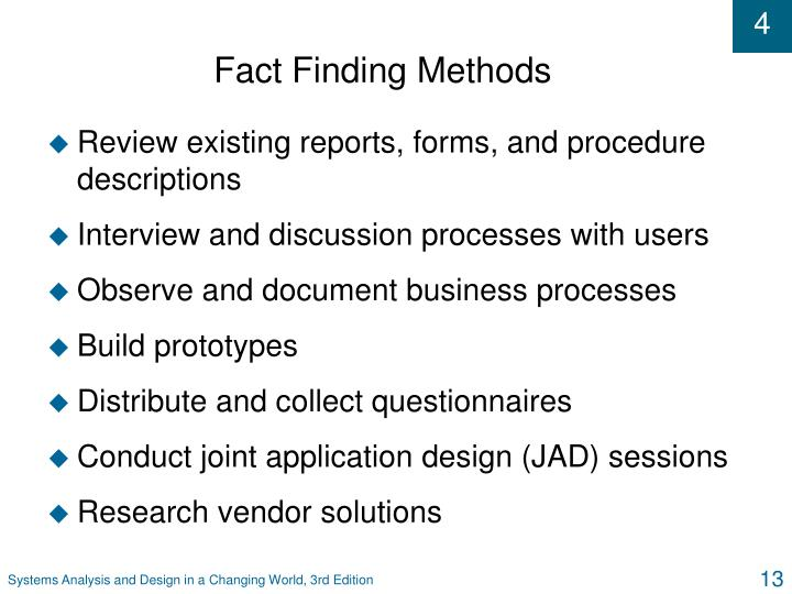 Fact Finding Methods