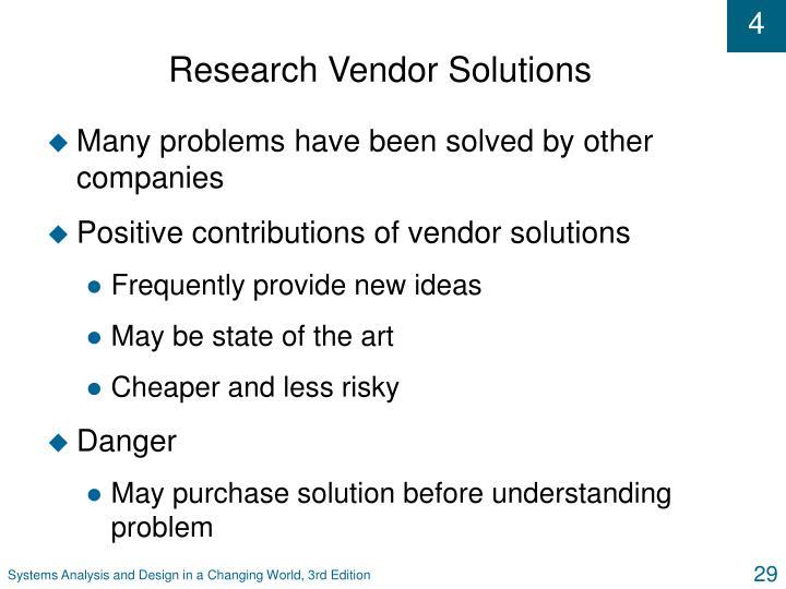 Research Vendor Solutions