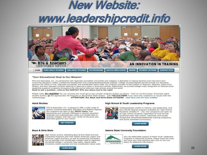 New Website: