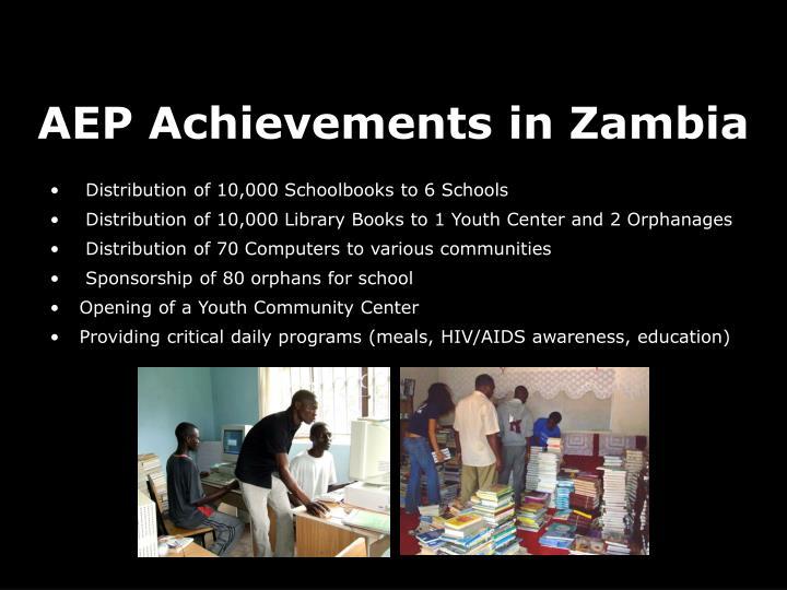 AEP Achievements in Zambia