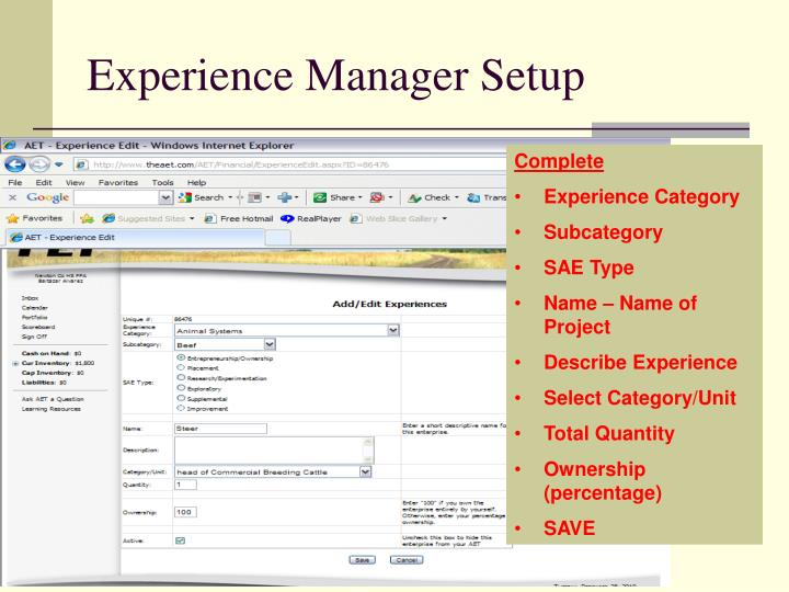 Experience Manager Setup