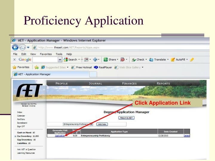 Proficiency Application
