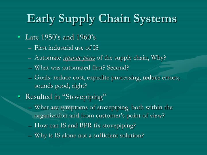 Early Supply Chain Systems