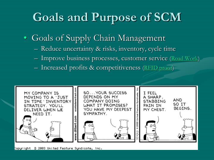 Goals and Purpose of SCM