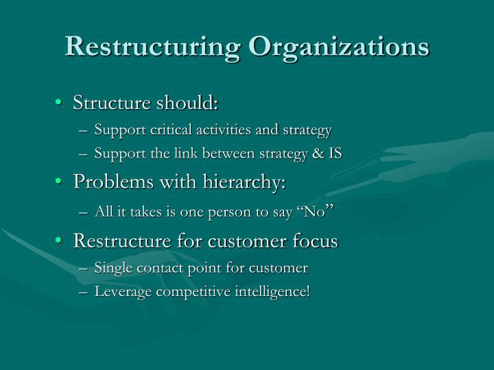 Restructuring Organizations