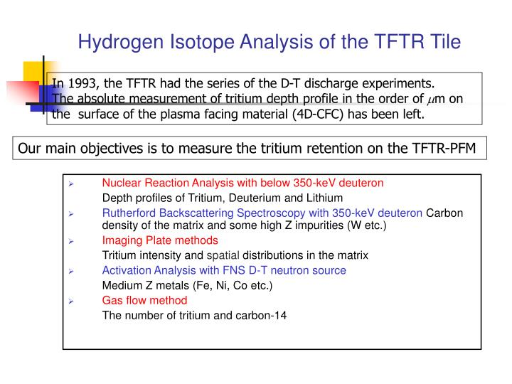 Hydrogen Isotope Analysis of the TFTR Tile