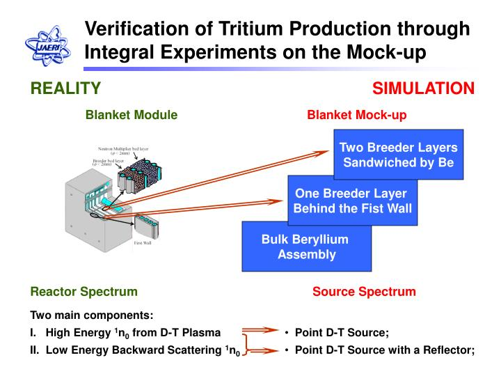 Verification of Tritium Production through Integral Experiments on the Mock-up