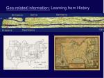 geo related information learning from history