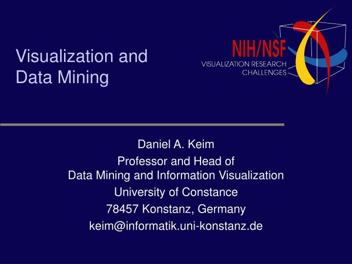 visualization and data mining