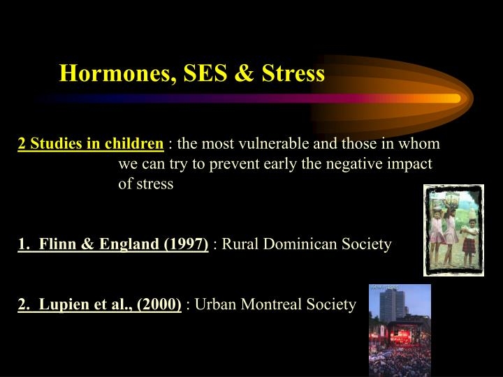Hormones, SES & Stress