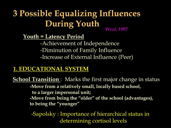 3 Possible Equalizing Influences