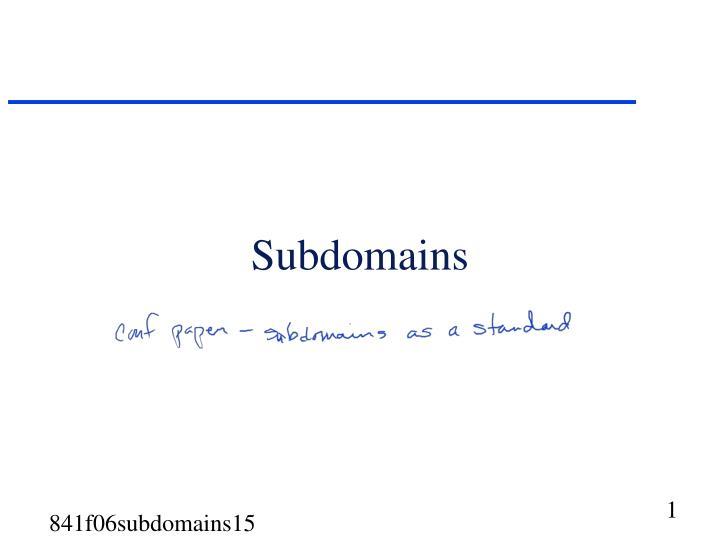subdomains n.