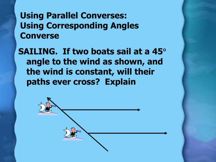 Using Parallel Converses: