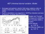 aef universal diurnal variation model