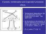 e polarity condensation and evaporation processes effects1