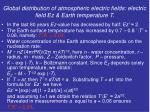 global distribution of atmospheric electric fields electric field z earth temperature t1