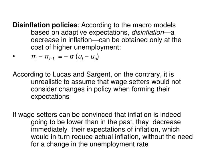 Disinflation policies