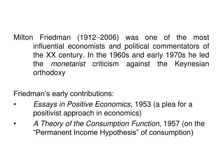 Milton Friedman (1912