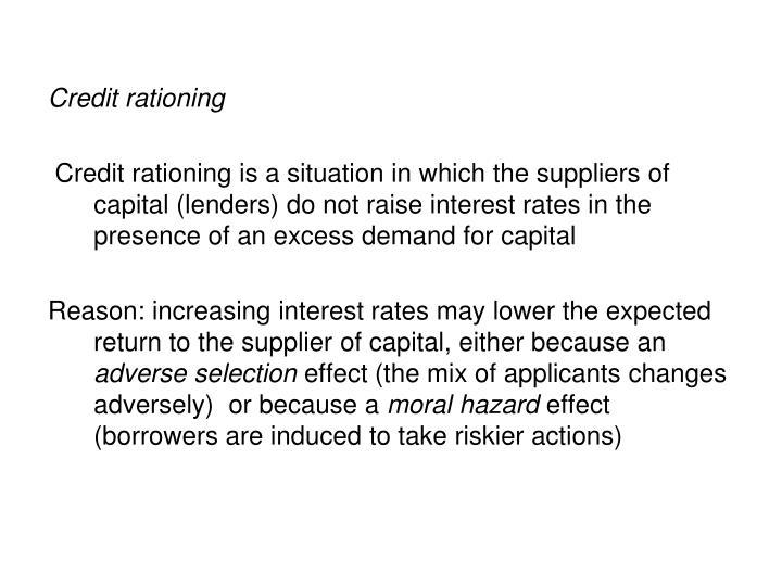 Credit rationing
