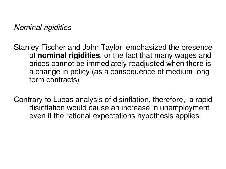 Nominal rigidities
