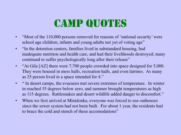 Camp Quotes
