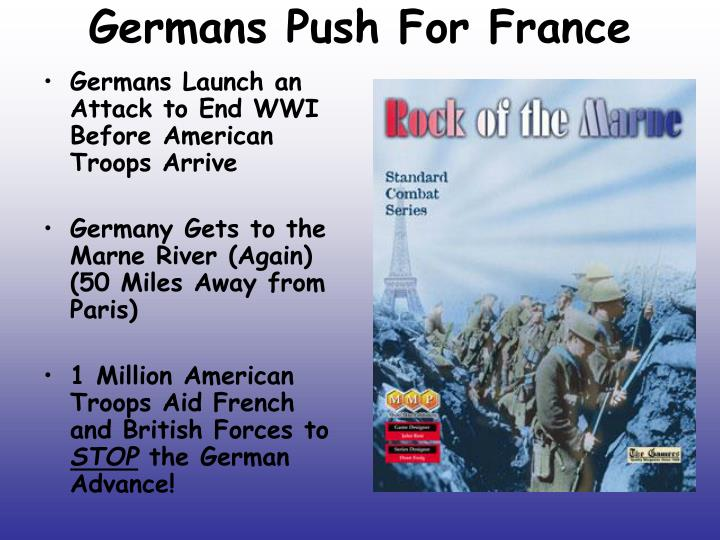 Germans Push For France