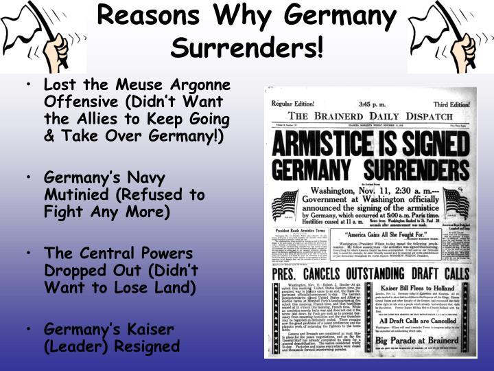 Reasons Why Germany Surrenders!