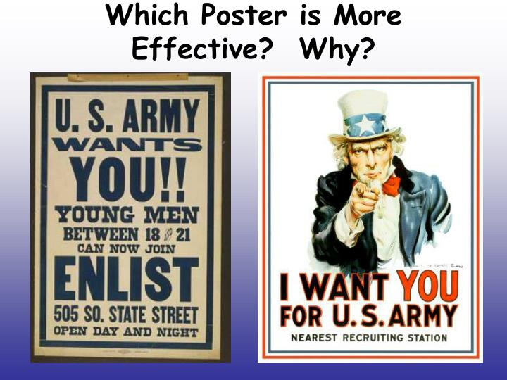 Which Poster is More Effective?  Why?