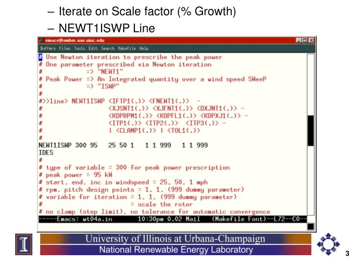 Iterate on Scale factor (% Growth)