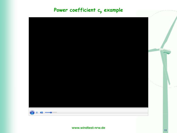 Power coefficient c